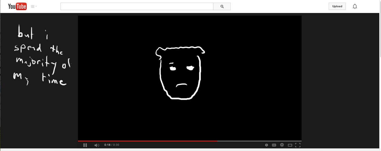 screenshot of drawing on youtube.